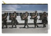 Midshipmen Carry Their Packs And Board Carry-all Pouch