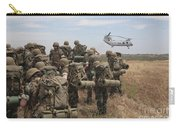 Midshipmen Watch As A U.s. Marine Corps Carry-all Pouch