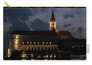 Mikulov Castle At Night Carry-all Pouch by Michal Boubin