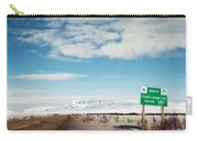 Milepost At The Dempster Highway Carry-all Pouch by Priska Wettstein