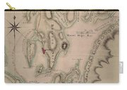Military Plan Of The North Part Of Rhode Island Carry-all Pouch