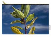 Milkweed Pods Against A Blue Sky Background Carry-all Pouch