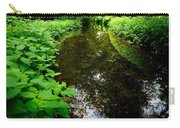 Mill Pond Stream In Green Carry-all Pouch