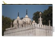 Minarets And Structure Of Pearl Mosque Inside Red Fort Carry-all Pouch