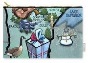 Minnesota Cartoon Map Carry-all Pouch