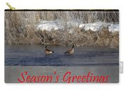 Mirrored Geese Season Greetings Carry-all Pouch