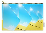 Mirrors On Sand In Blue Sky Carry-all Pouch