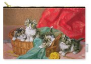 Mischievous Kittens Carry-all Pouch by Daniel Merlin