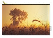 Mist In A Barley Field At Sunset Carry-all Pouch