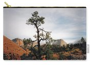 Misty Morning In Zion Canyon Carry-all Pouch