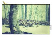 Misty Winter Woods Carry-all Pouch