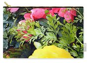 Mixed Ranunculus In A Hanging Basket Carry-all Pouch