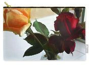 Mixed Roses In Crystal Vase Carry-all Pouch