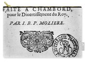Moliere (1622-1773) Carry-all Pouch