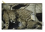 Mom And Baby Cheetah Carry-all Pouch