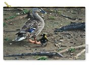 Mom And Duckling Carry-all Pouch