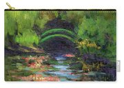 Momet's Water Lily Garden Toward Evening Carry-all Pouch
