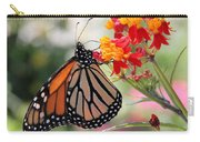 Monarch On Butterfly Weed Carry-all Pouch