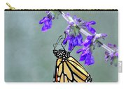 Monarch On Purple Carry-all Pouch