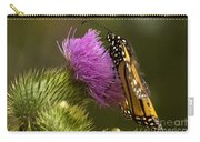 Monarch Thistle Munching Carry-all Pouch