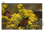 Monarchs On Yellow Carry-all Pouch