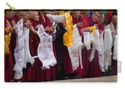 Monks Wait For The Dalai Lama Carry-all Pouch