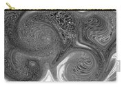 Mono Swirl Abstract Carry-all Pouch