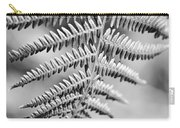 Monochrome Fern Frond Carry-all Pouch