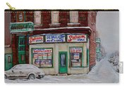 Montreal Corner Market Winter Scene Carry-all Pouch