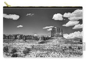Monument Valley In Monochrome  Carry-all Pouch