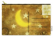 Moon And Star Postcard Carry-all Pouch