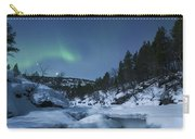 Moonlight And Aurora Over Tennevik Carry-all Pouch
