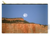Moonrise Over East Temple - Zion  Carry-all Pouch