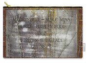 Mooresville - Belle Mina Junior High School 1967 Carry-all Pouch by Kathy Clark
