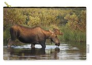 Moose Drinking In A Pond, Tombstone Carry-all Pouch