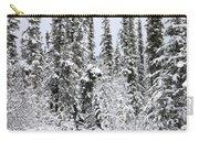 Moose In Deep Snow, Near Teslin, Yukon Carry-all Pouch
