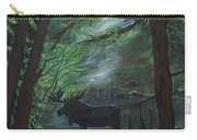 Moose In Pines Carry-all Pouch