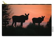 Moose Silhouetted At Sunset Carry-all Pouch