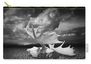 Moose Skull On Parched Earth Carry-all Pouch