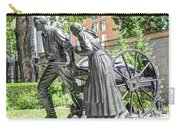 Mormon History - Hand Cart Statue Carry-all Pouch by Gary Whitton