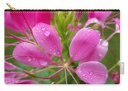 Morning Dew On Pink Cleome Carry-all Pouch
