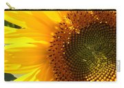 Morning Dew On Sunflower Carry-all Pouch