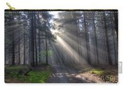 Morning Forest In Fog Carry-all Pouch