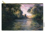 Morning On The Seine Carry-all Pouch by Claude Monet