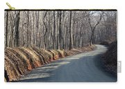 Morning Shadows On The Forest Road Carry-all Pouch