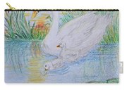 Morning Swim I  Original Colored Pencil Drawing Carry-all Pouch