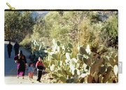 Moroccan People And Cacti Carry-all Pouch