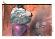 Moroccan Woman With Baby Detail Carry-all Pouch
