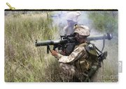 Mortarman Fires An At4 Anti-tank Weapon Carry-all Pouch by Stocktrek Images