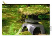 Mossy Japanese Garden Lantern Carry-all Pouch